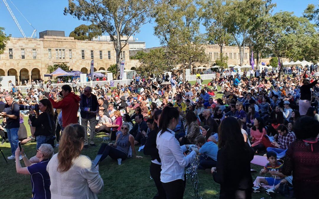 Largest Mindfulness Lesson – new World Record at UQ, Brisbane 23.07.19